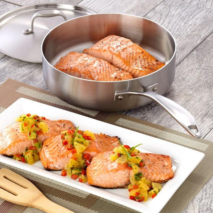 Salmon with Citrus Salsa Recipe from our friends at American Kitchen. A healthy yet flavorful meal your friends and family will love. Find it on the Recipes & Tips tab. #recipe #salmon