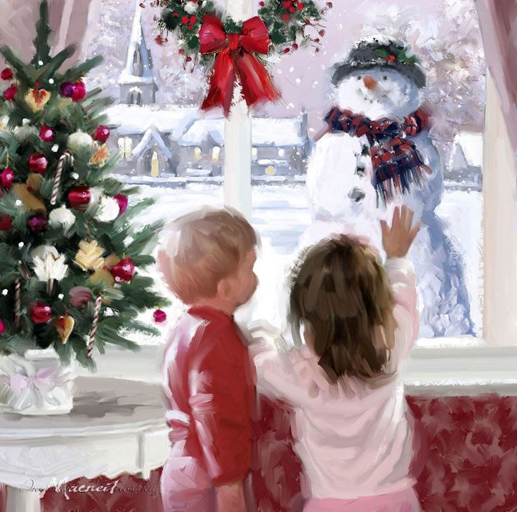 Мобильный LiveInternet В Рождество все дома, как шкатулки запрятанных истин… Художник Richard Macneil.   луида - Дневничок для моих друзей и гостей .  