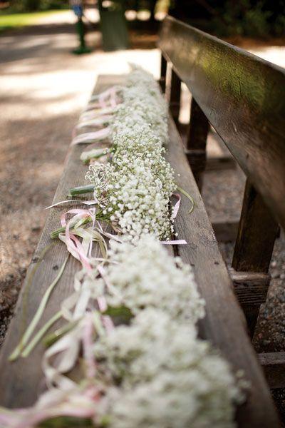 Baby's breath bridesmaid bouquets