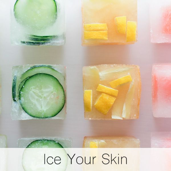 ❄️️ Give yourself an ice facial! Icing your face helps reduce inflammation and puffiness (like under-eye circles) and increase circulation. Add fruit like cucumbers and lemons into your ice cubes for even more powerful, natural healing benefits! ❄️️  #skincare #skincaretips