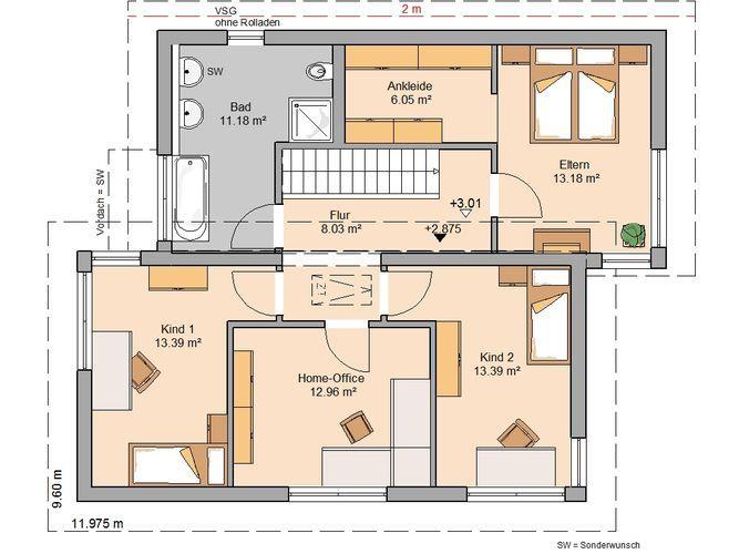 ber ideen zu kern haus auf pinterest traumhaus grundrisse und stadtvilla. Black Bedroom Furniture Sets. Home Design Ideas
