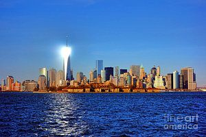 Cities Photograph - Lighthouse Manhattan by Olivier Le Queinec