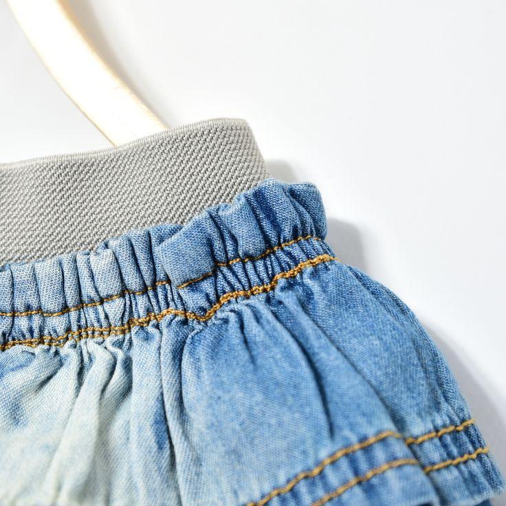 Короткие джинсовые юбки для джинсы для маленьких девочек мини юбки костюмы с юбкой для младенцев детское многослойное школьница летом миди Pettiskirt