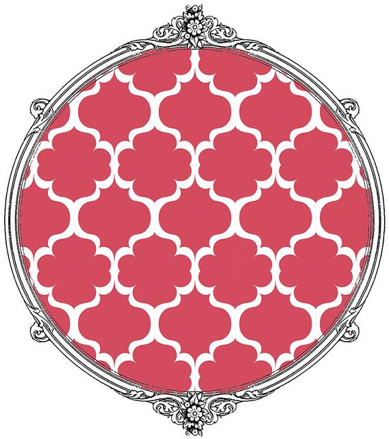 (lots of free printables on this site) 1 sample solid pomegranate & flower mel stampz by melstampz, via Flickr