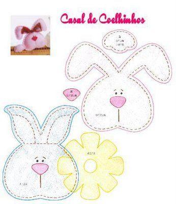 Artesanato e Cia: moldes coelho primavera( feltro)