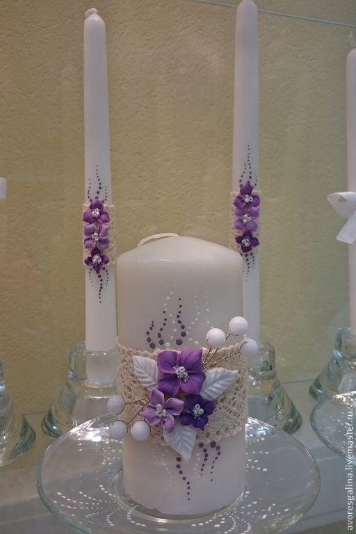 Купить свадебные бокалы - фиолетовый, свадьба, свадебные аксессуары, бокалы для свадьбы, бокалы для молодоженов, кружево