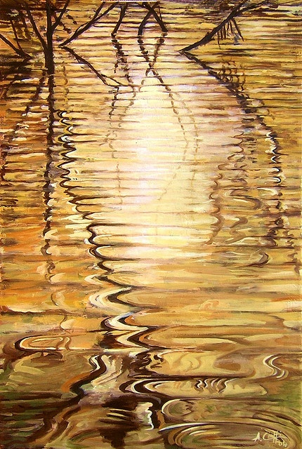 Ripples of Gold: Photos, Color Gold, Golden Reflections, Golden Ripples, Art, Alfio Cioffi, Brown, Photography