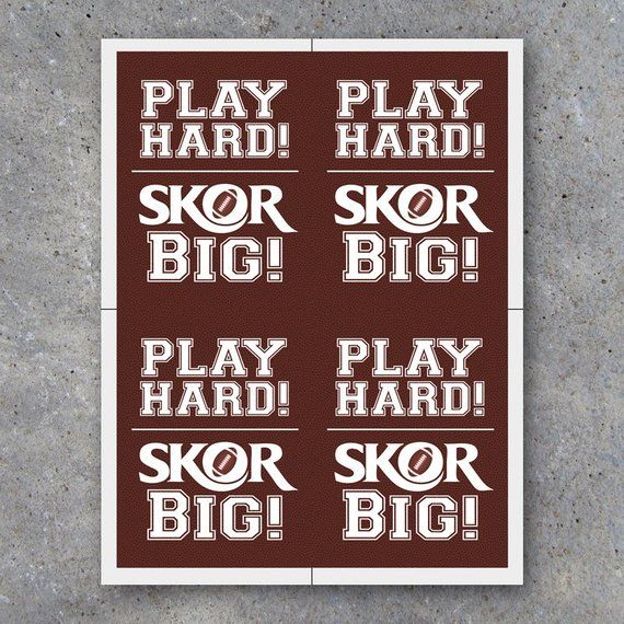 7e5cae6211e27 Football SKOR BIG Tags Printable Sports Tags for Football | Etsy ...