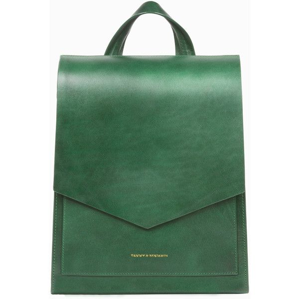 Norva - Emerald Green Backpack (3,640 CNY) ❤ liked on Polyvore featuring bags, backpacks, macbook pro backpack, green bags, green backpack, day pack backpack and rucksack bag