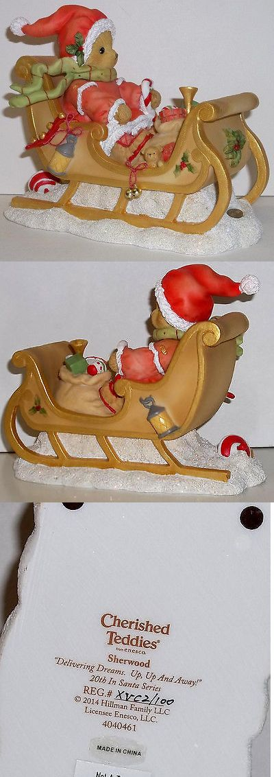 Cherished Teddies Christmas: Cherished Teddies Sherwood Santa Figurine For 2014 New # 4040461 20Th In Series -> BUY IT NOW ONLY: $49.95 on eBay!
