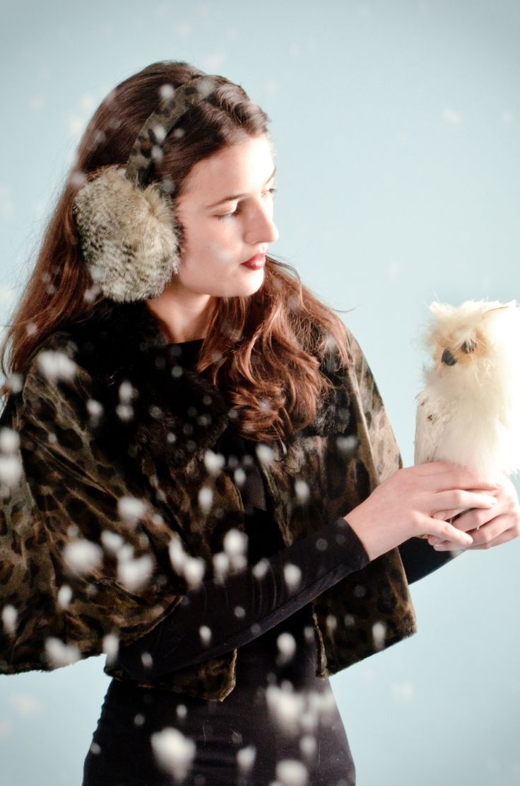 Christmas Cape and sheepskin ear muffs by Blanche in the Brambles