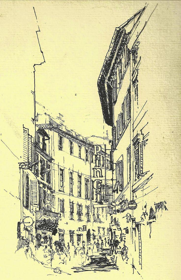 "Urban Sketchers Chicago: Tuesday Tips & Tricks: ""Framing a Sketch"""
