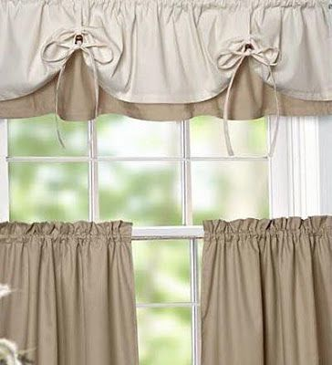 378 best cortinas images on pinterest blinds crocheting - Cortinas para cocina ...