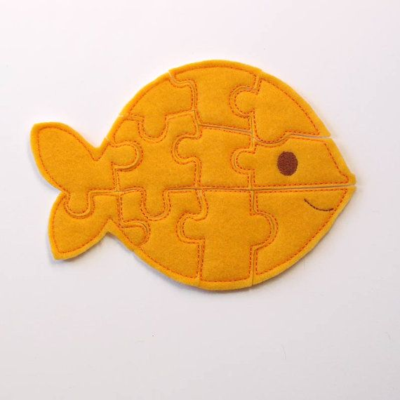 Easy Puzzle for Kids - Fish Felt Puzzle - Toddler Shape Puzzles - Educational Toy - Animal Puzzles