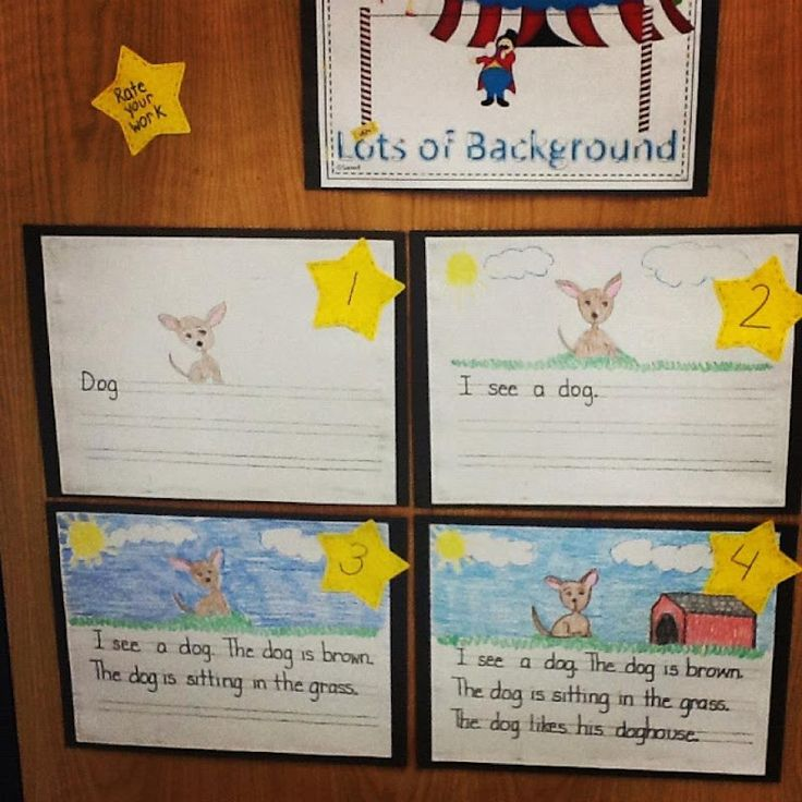 Rubric for the little ones to visualize expectations of finished work