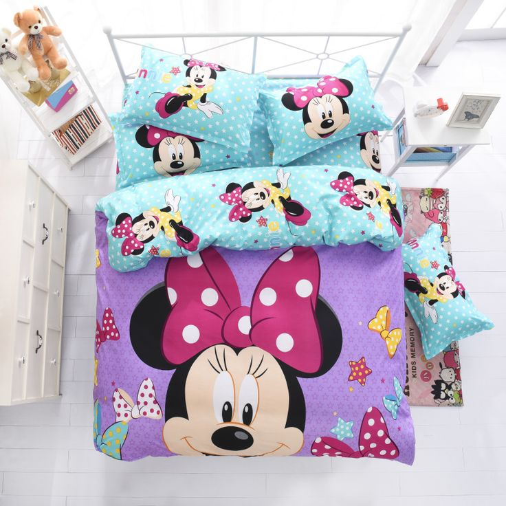 check price disney mickey children bedding set queen full single size duvet cover sheet pillow case bed #single #bed #size