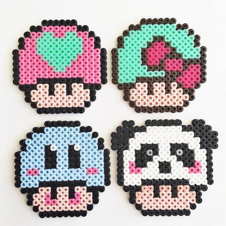 Mushrooms hama beads by Molly & Selma