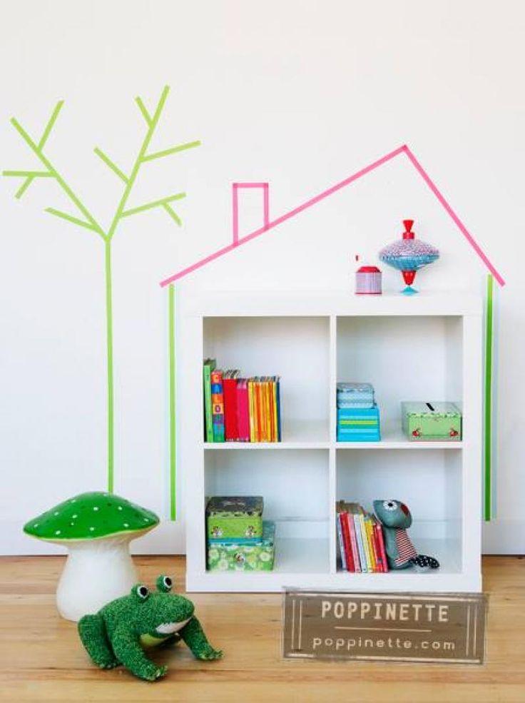 Maak een originele boekenkast voor de kinderkamer (Zappybaby.be)