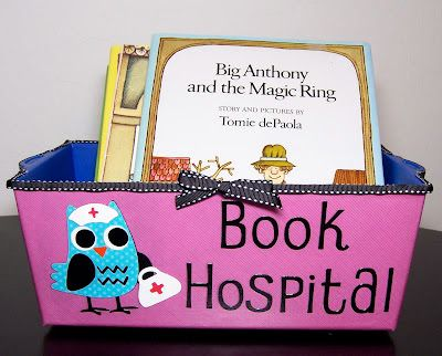 Book Hospital. with tips & pics for making it Learning in Wonderland Monday…