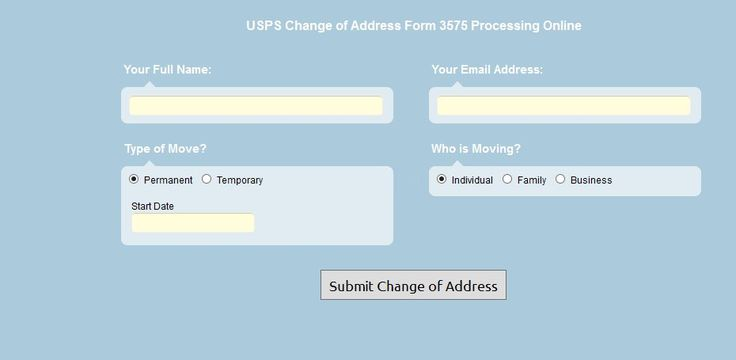 When You Move You Need To Change Your Address With The United
