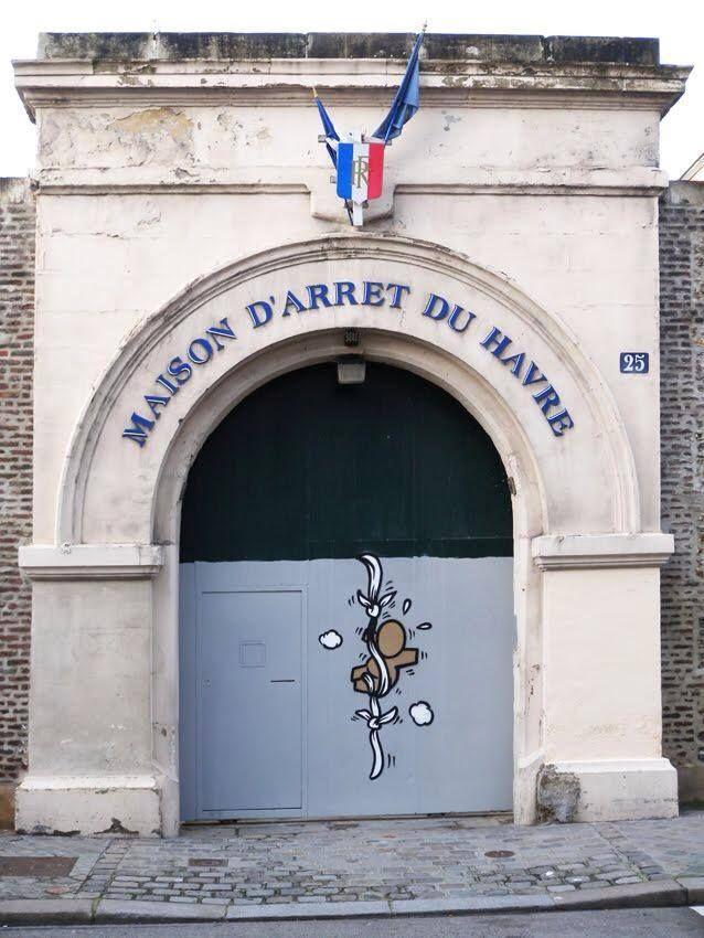 Un #gouzou s'échappe au Havre ! (Par le street-artist Jace)
