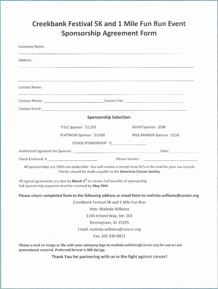 Golf Tournament Entry Forms Template Beautiful Sponsored Run Form Template Syncla Event Sponsorship Contract Template Proposal Templates