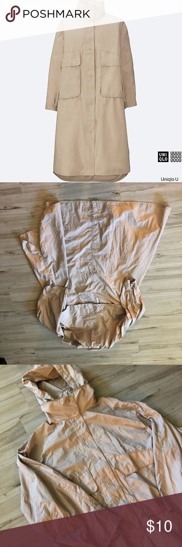 Uniqlo U Oversized Trench In excellent condition only worn once. Gives you a sweet avant-garde look a la issey miyake. Uniqlo Jackets & Coats Trench Coats