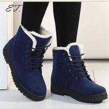 Mulher curto botas 2017 nova chegada botas de inverno quente botas de neve moda botas do tornozelo da plataforma sapatos unissex alishoppbrasil