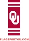 "Oklahoma Sooners Post Banner 30"" x 11"""