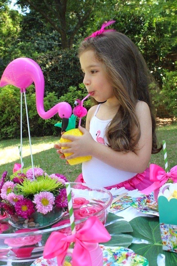 Tropical Flamingo Themed Birthday Party