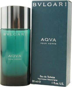 Bvlgari Aqua By Bvlgari For Men, Eau De Toilette Spray, 1-Ounce Bottle by BVLGARI. $100.28. Product DescriptionBvlgari Aqva by Bvlgari Eau de Toilette Spray 1.0 Fl Oz. Aquatic, noble and masculine, AQVA pour Homme Eau de Toilette evokes the power and beauty of the sea. The perfection of a spherical flask. Aquatic blue and green merging together, capturing light, creating deep reflections. . The unique glace blue-green color of the pebble-shaped bottle evokes the luminous char...