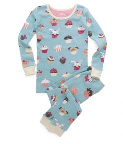 Hatley Cupcakes Kids' Overall Print Pajama Set