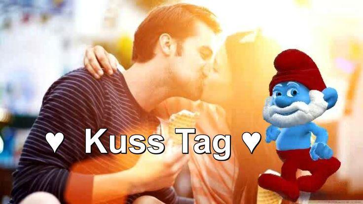 ♥ Papa #Schlumpf Internationaler Tag des Kusses Isch küsse Disch jeden Tag #Küssen #Zoobe