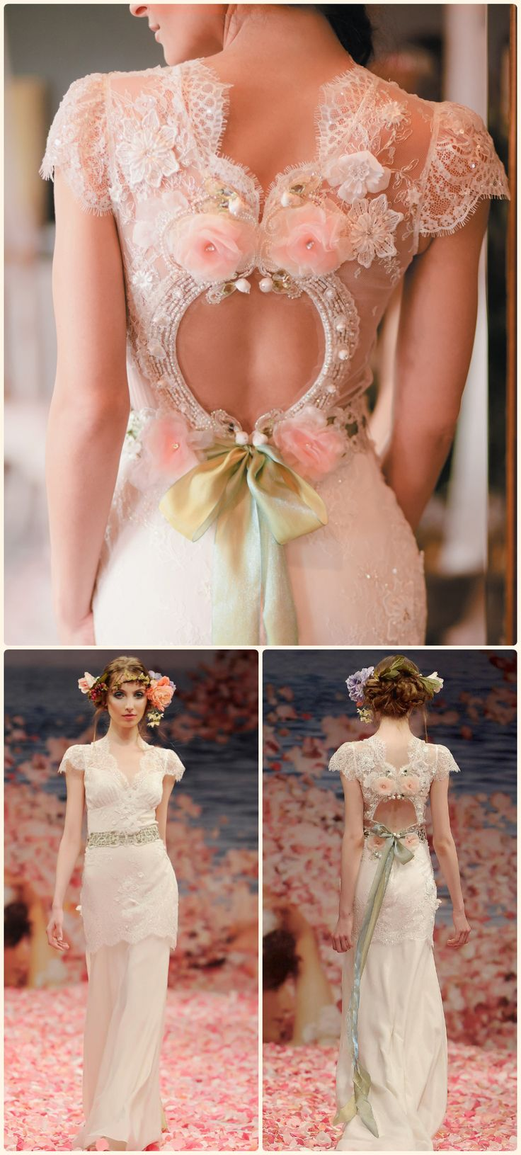 A Beautiful Bride, dress by Claire Pettibone. Can be found here: http://www.clairepettibone.com/bridal/?cp=gowns/beauty