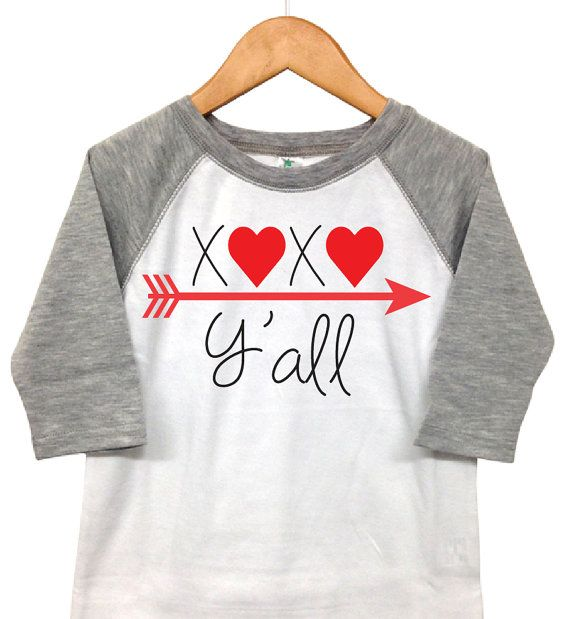 Valentines Day Shirt   XOXO Yu0027all   Toddler Valentine   Toddler Heart Shirt