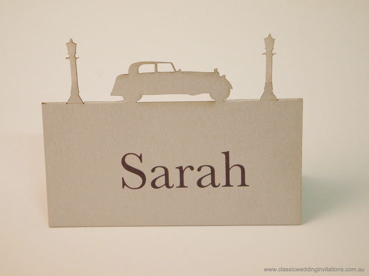 Laser cut place card