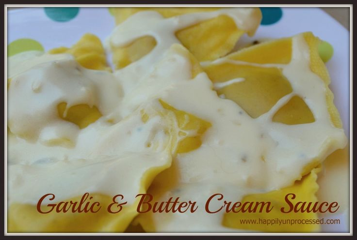 If you need a quick sauce to put on top of pasta or seafood or ravioli, this is wonderful!  Dairy allergies can just omit the milk and you're left with a nice garlic butter sauce.  #sauces #garlic #butter