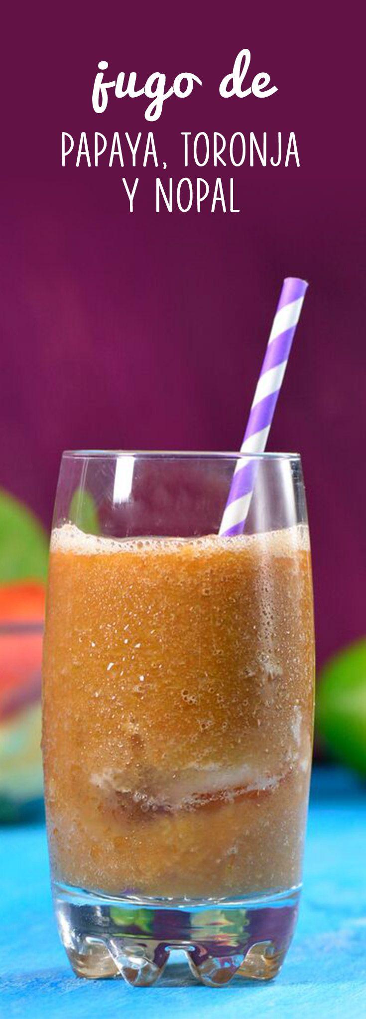 Cuídate y quema grasa con esta combinación de frutas de forma fácil y rápida. El jugo de papaya, toronja y nopal es delicioso, bien fácil de preparar y muy saludable. ¡No dejes de prepararlo!