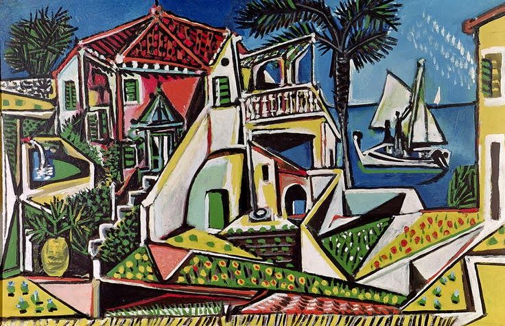 Mediterranean Landscape, 1952 Pablo Picasso - Later Years #picasso #art