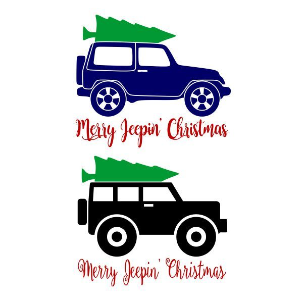 Merry Jeepin Christmas Cuttable Design Jeep Jeep Decals Diy Jeep