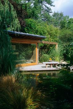 Image result for small bridge on pond urban retirement seats