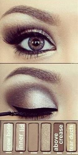 wedding eyes, urban decay naked palette. Smudgier eyeliner and bronzier shades, for