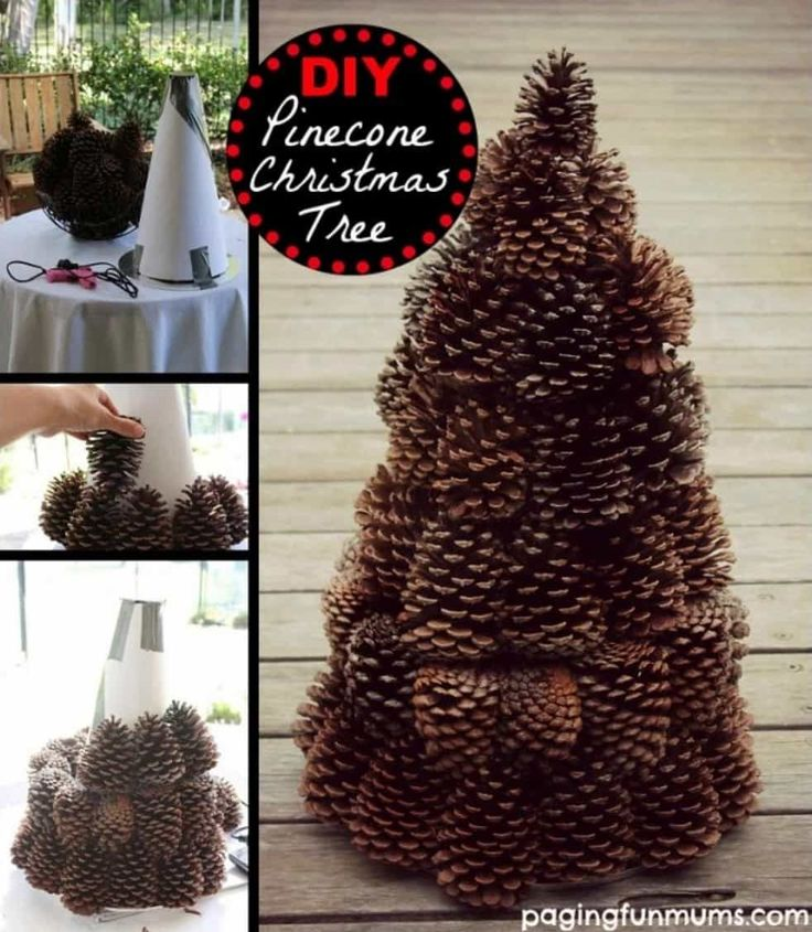 The 25+ best Pine cone christmas tree ideas on Pinterest | Holiday ...