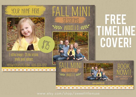 Fall Mini Session Template  photography by sweetlittlemuse on Etsy, $8.00