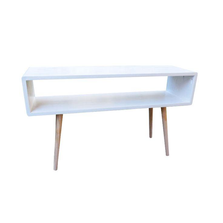 Retro Sofa Table - White   dotandbo.com