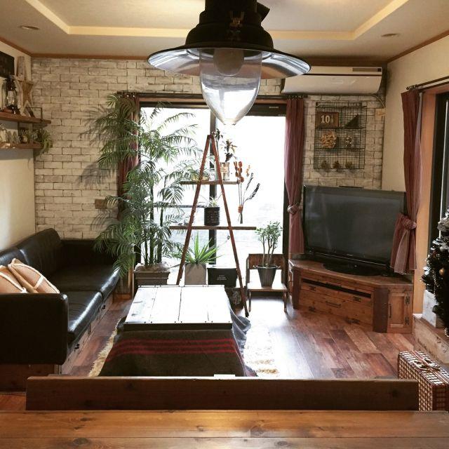 ranranさんの、部屋全体,IKEA,雑貨,DIY,ディスプレイ,クッションフロア,こたつ,見せる収納,脚立,建て売り,セルフリノベーション,インスタ→TOMOOO.25,のお部屋写真