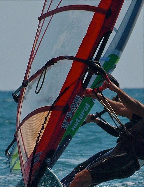 Windsurf en Pollensa, Mallorca; Islas Baleares, España, Spain
