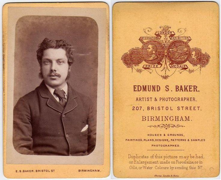 Carte de Visite, published by Edmund Baker, 207 Bristol Street, Birmingham