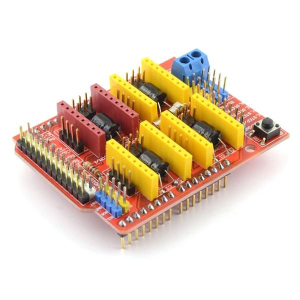 CNC V3 Arduino shield is acompact CNC controller with all necessary features to run smallCNC router, engraver, laser or pick and place machine. Board is compa