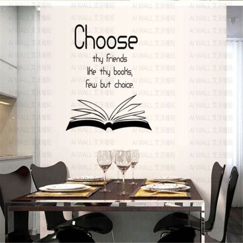 Choose-The-Friedns-Like-The-Books-Few-But-Choice-Words-Wall-Sticker-Mural-New